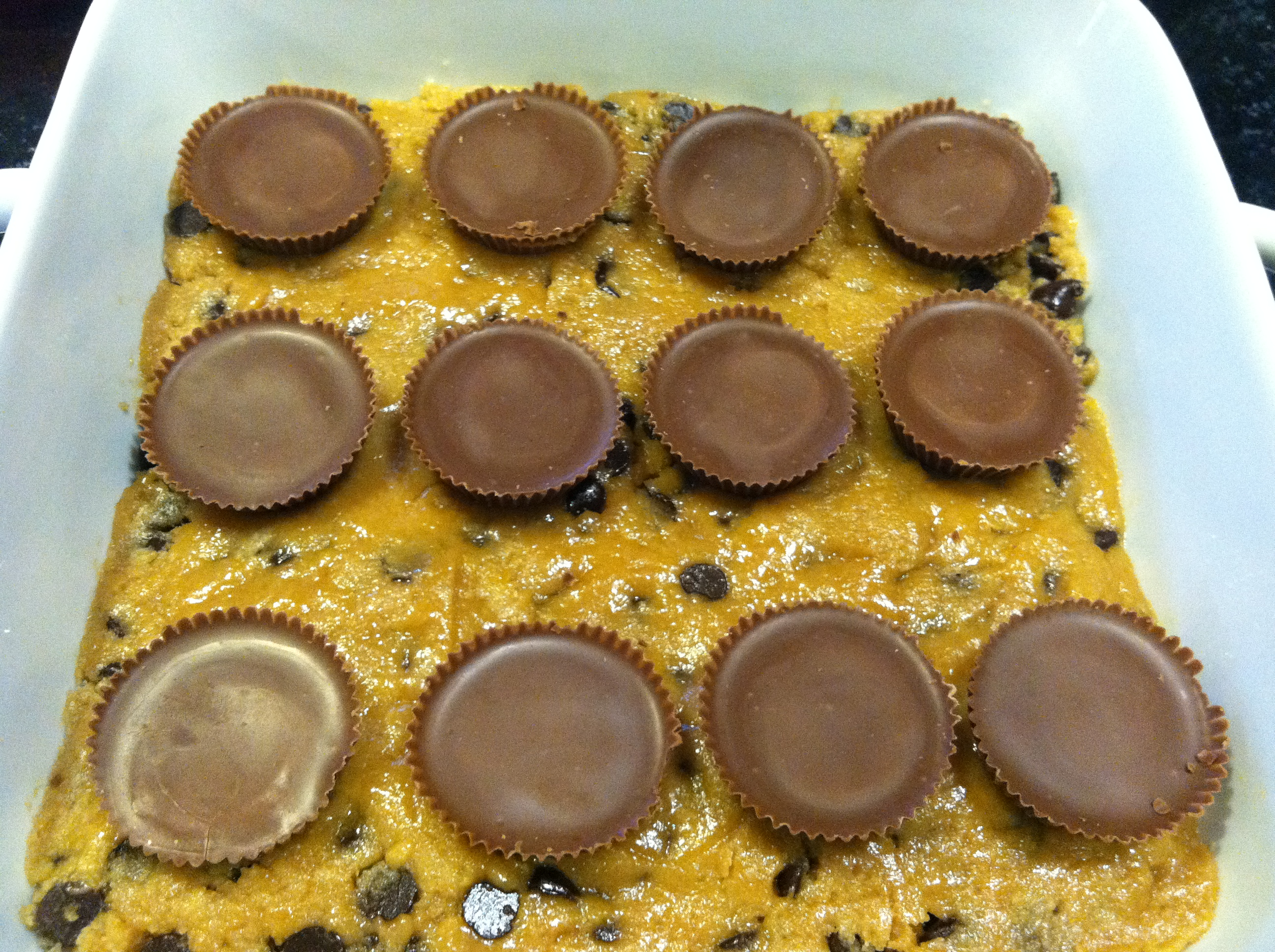 ... sugar cookie dough (or use boxed mix) and place over Reese's cups