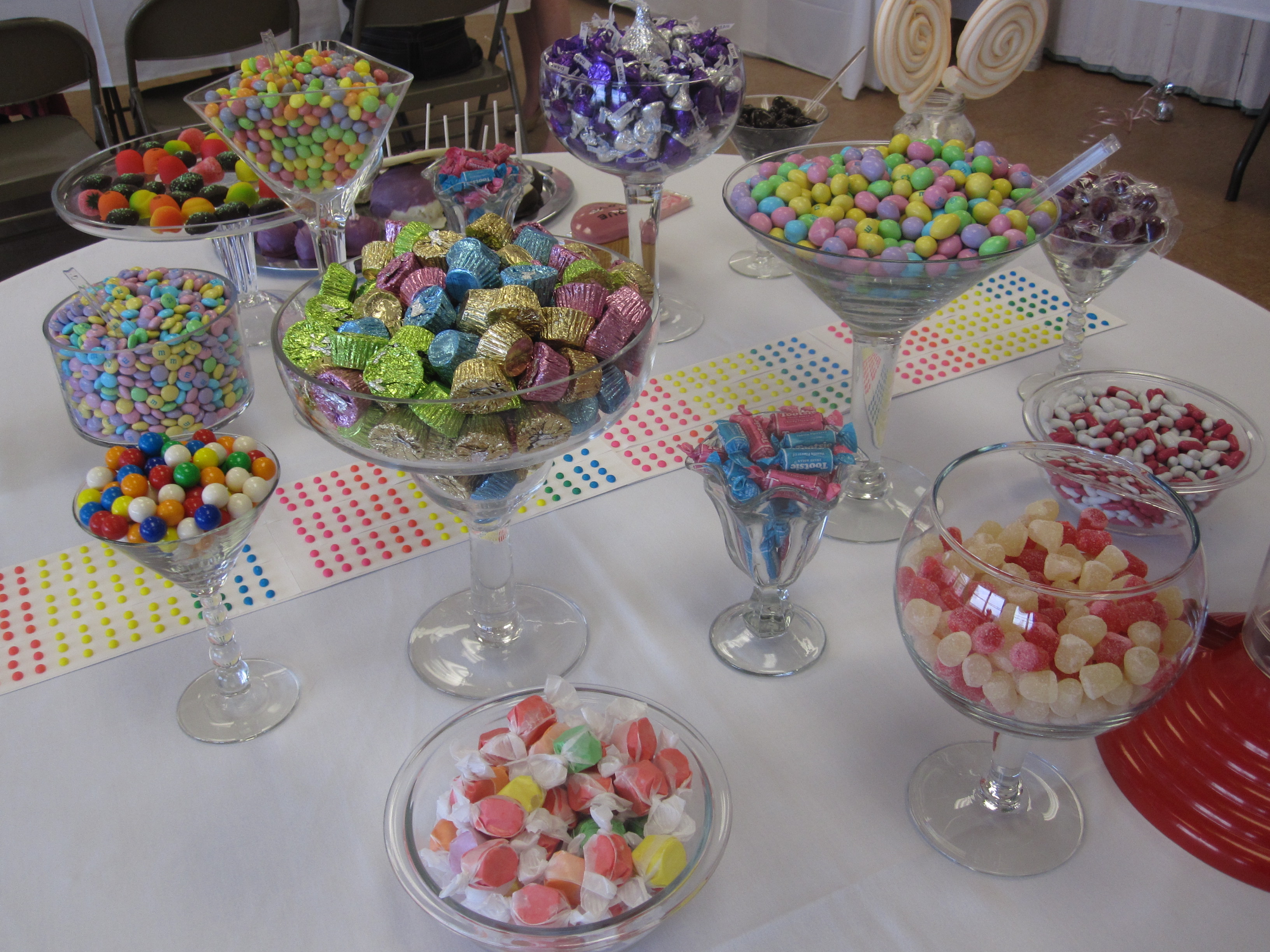 Candy and dessert tables