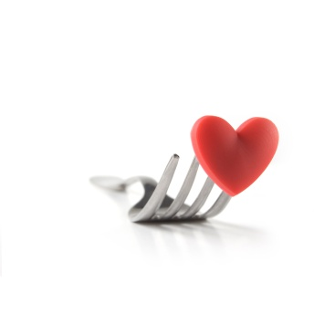 fork with heart