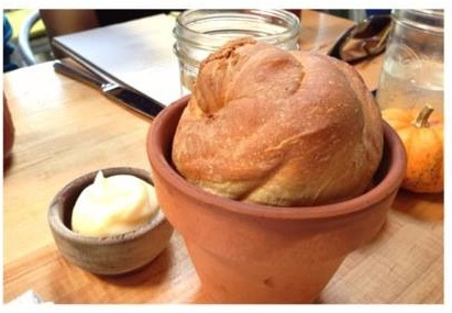 Image 2-Bread in clay pot with honey butter